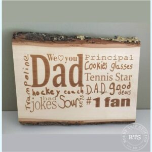 Engraved Basswood Sign Dad