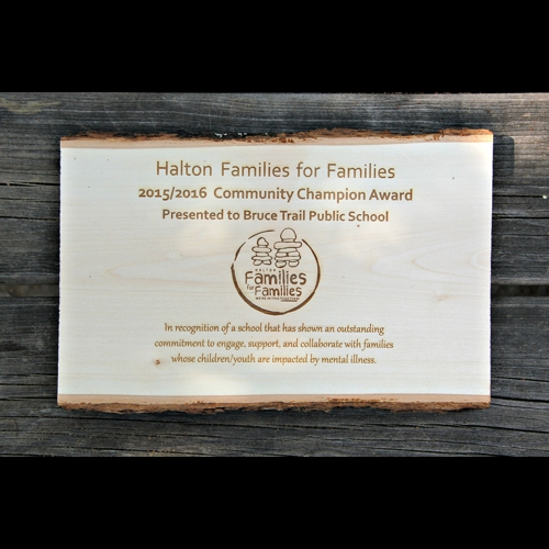 Engraved basswood sign custom text
