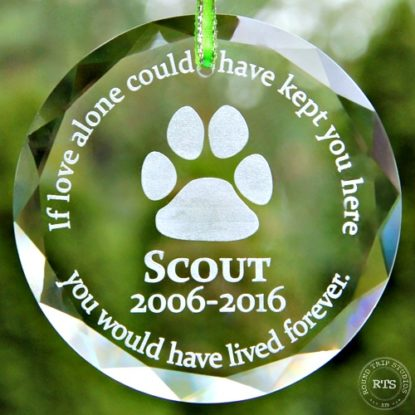 Crystal Pet Memorial Ornament