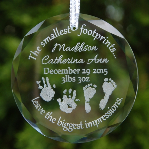 Crystal Memorial Ornament