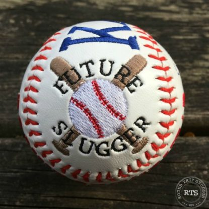 Embroidered Baseball side view - Future Slugger
