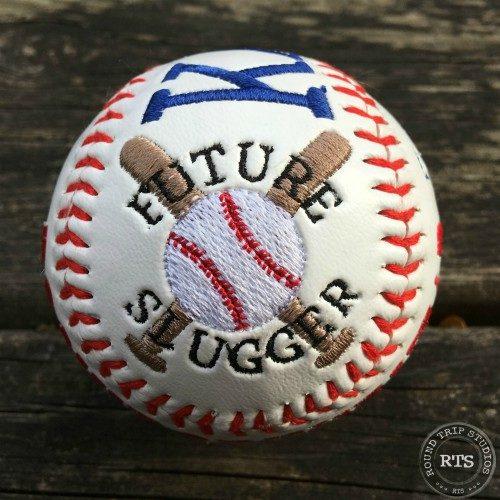 Embroidered Baseball side view - Future Slugger