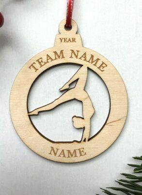 Laser Cut birch ornament Gymnastics Girl