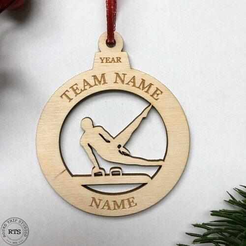 Laser Cut birch ornament Gymnastics Boy