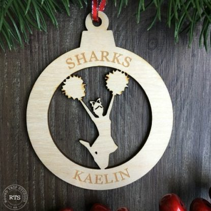 Birch Lasercut Ornament Cheer