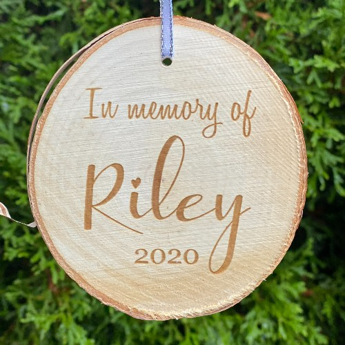 Suggested engraving for the back of the ornament.