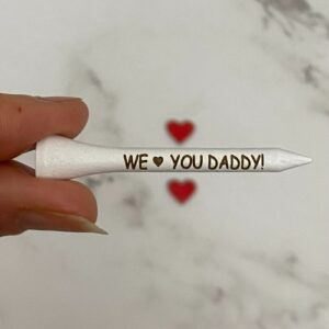 Engraved golf tees for Father's Day.