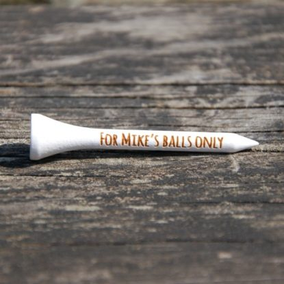 Funny engraved golf tees make a great birthday gift.