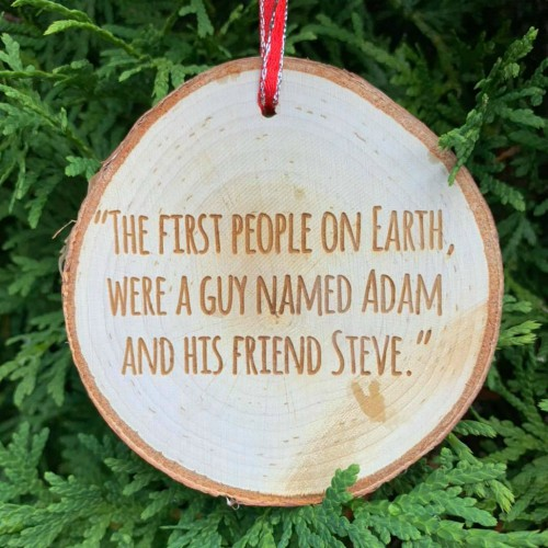Funny kids saying engraved on a Rustic Birch Ornament.