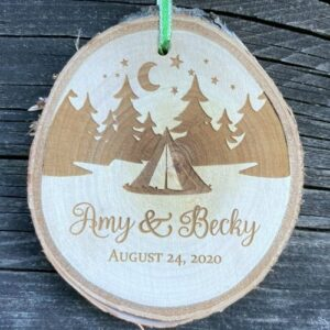 Rustic Birch ornament for people who love camping